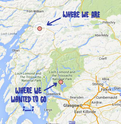Loch Lomond Glen Coe Wina